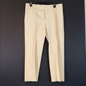 "Cream causal wide band waist 24"" inseam"